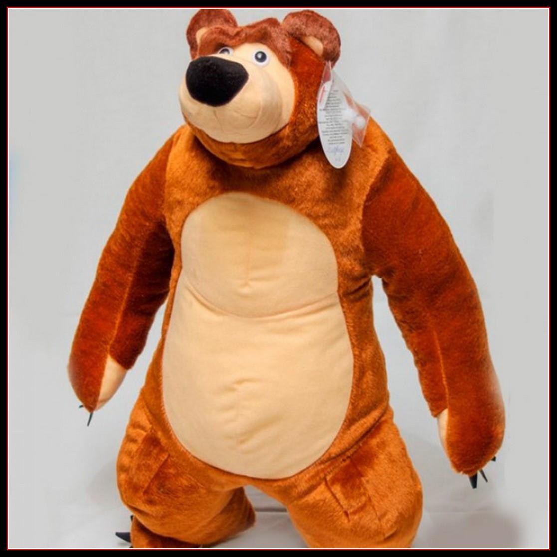 Детская игрушка мишка с мультфильма Маша и медведь 60 см