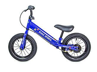 """Велобіг (беговел) Scale Sports 12"""" Синій BLUE ручні гальма 41522 (1шт) в кор."""
