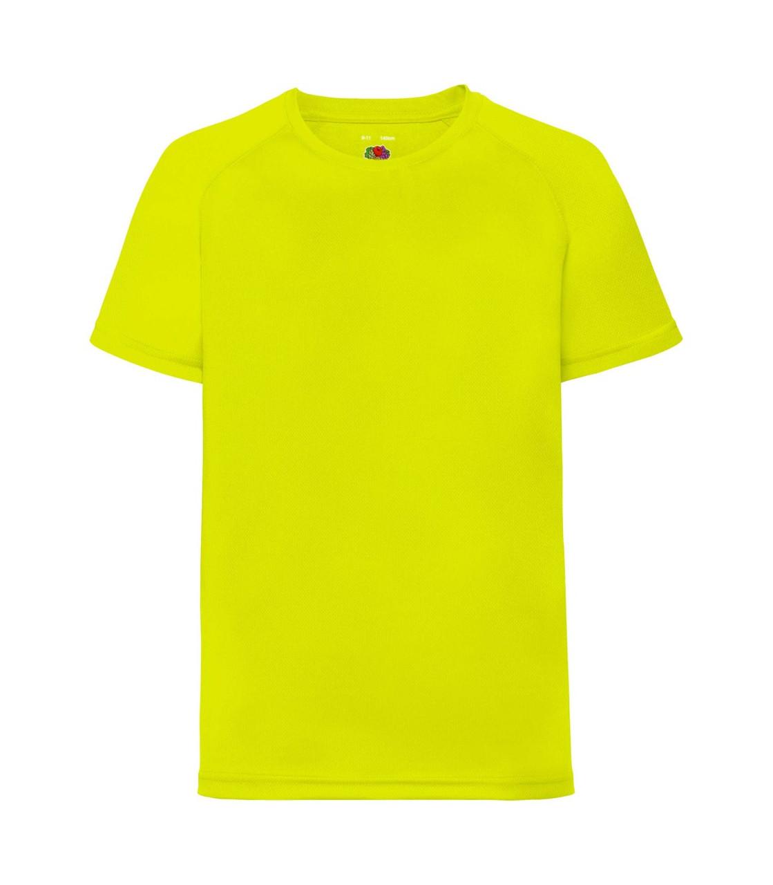 Детская спортивная футболка полиэстер желтая 013-ХК