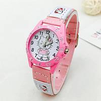 Детские наручные часы для девочки Hello Kitty (Светло-розовые)