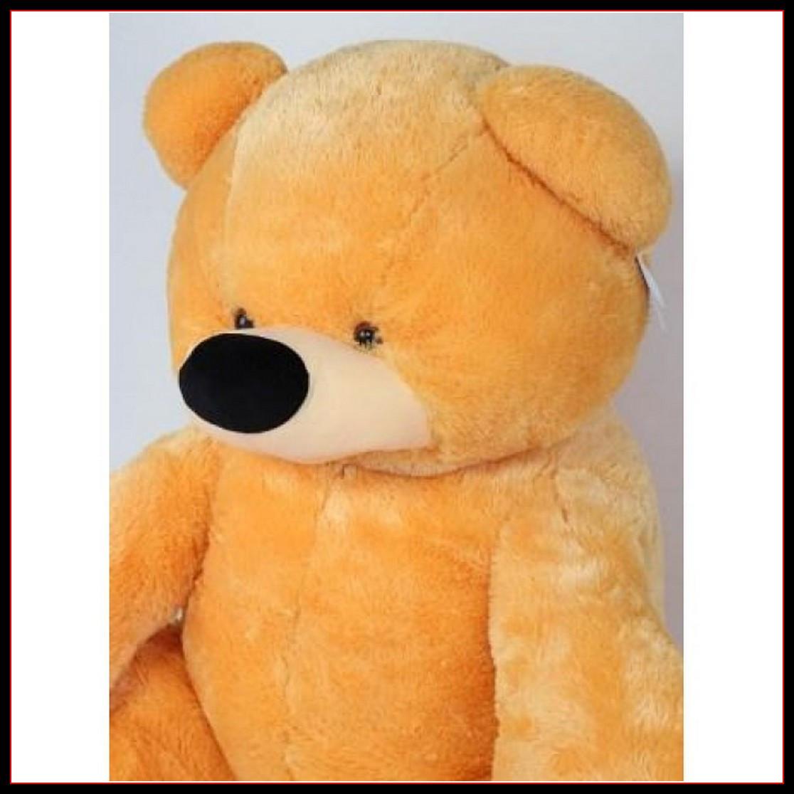 Большой плюшевый мишка Тедди медовый 140 см