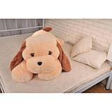 Большая мягкая игрушка Собака 140 см персиковый цвет, фото 2