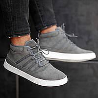 Мужские кроссовки South Steel Black, классические черные кроссовки на осень Серый