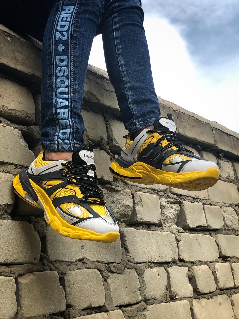 Жіночі кросівки Balenciaga Track Yellow, Репліка