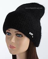 Черная вязаная шапка Карен для женщин