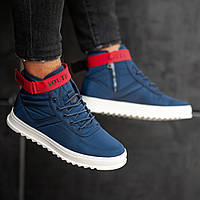 Мужские кроссовки South Anomality BLACK/RED, классические черные кроссовки на осень Синий