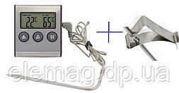 Термометр для продуктів електронний з таймером і кліпсою