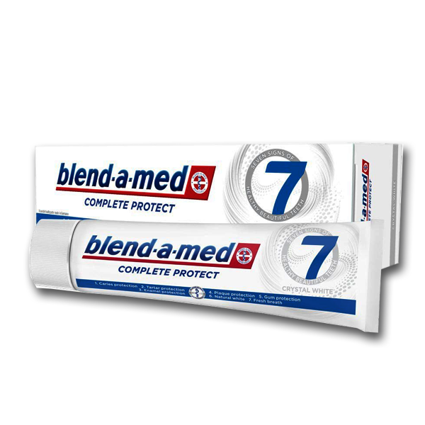 "Зубная паста Blend-a-med Complete Protect 7 ""Crystal White"" (125мл.)"