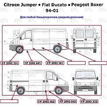 Поріг лівий Citroen Jumper до 2001 гв. ( Сітроен Джампер )