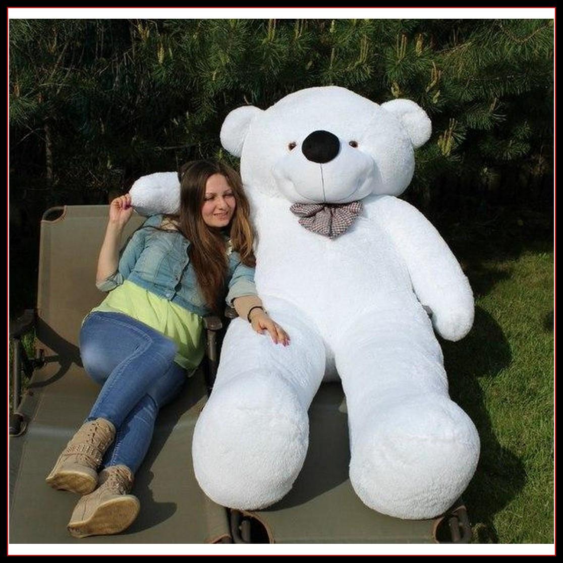 Огромный плюшевый мишка Тедди мягкая игрушка 240 см Белый цвет