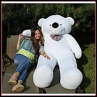 Огромный плюшевый мишка Тедди мягкая игрушка 240 см Белый цвет, фото 1