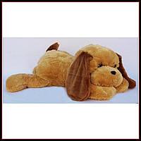 Большая мягкая игрушка Собака 90 см медовый цвет