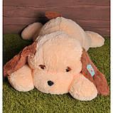 Большая мягкая игрушка Собака 90 см персиковый цвет, фото 2