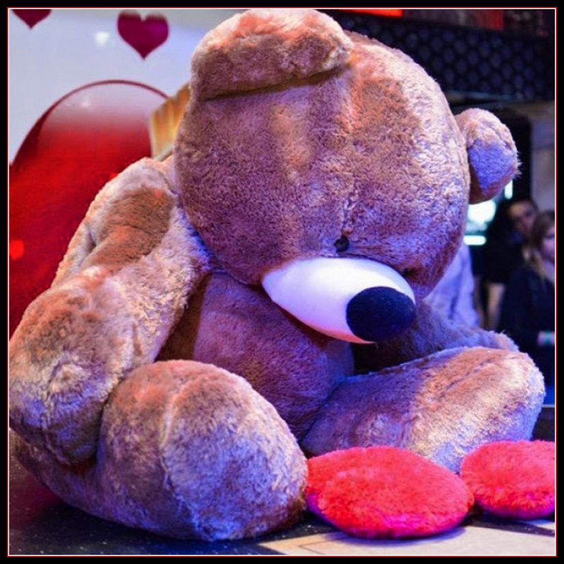 Огромный плюшевый мишка Тедди 2 метра коричневый