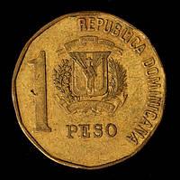 Монета Доминиканской республики 1 песо 1991 г.