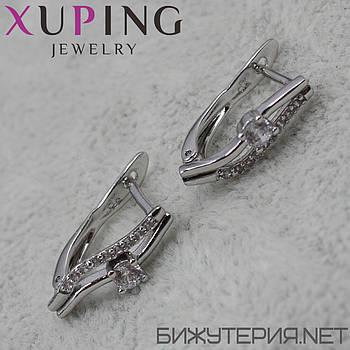Серьги Xuping медицинское золото Silver - 1029331389