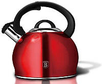 Чайник со свистком 3 л Metallic Line BURGUNDY Berlinger Haus BH-1836