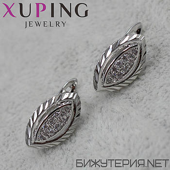 Серьги Xuping медицинское золото Silver - 1029331754