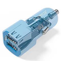 Автомобильное зарядное устройство Orico 3.4A(17W) UCL-2U-BL (Синее, два USB-порта), фото 3