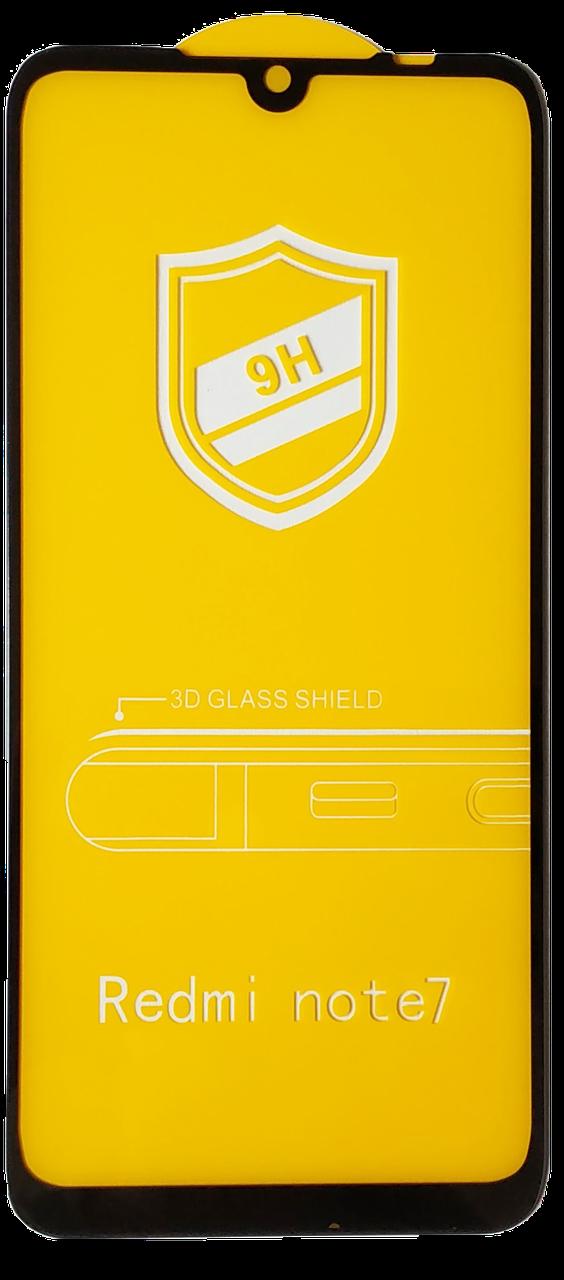 Защитное Стекло для Xiaomi Redmi Note 7 5D 9H Full Glue Полная Проклейка Олеофобное Покрытие