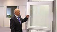 Окно cо скрытыми петлями дизайнерское Kommerling 88 Германия