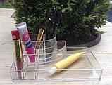 Пластиковый органайзер для косметики (№1551)28*15,5*7 см, фото 2