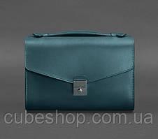 Женская кожаная сумка-кроссбоди Lola (зеленая)