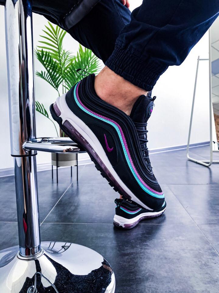 """Мужские кроссовки в стиле Nike Air Max 97 Reflective """"Black"""" ( в стиле Найк )"""