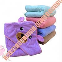 Уголок полотенце для купания детский микрофибра супер качество