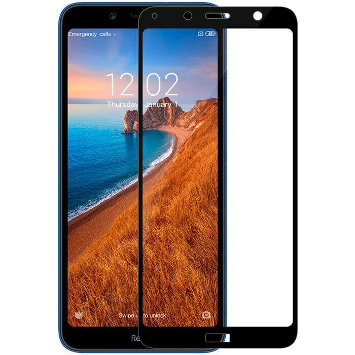 Защитное Стекло для Xiaomi Redmi 7A 5D 9H Full Glue Полная Проклейка