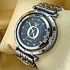 Женские кварцевые наручные часы Pandora T103 серебряного цвета с черным циферблатом на металлическом браслете - Фото
