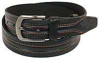 Кожаный ремень Skipper 110-130 x 4 см Черный 1056-40, КОД: 390040