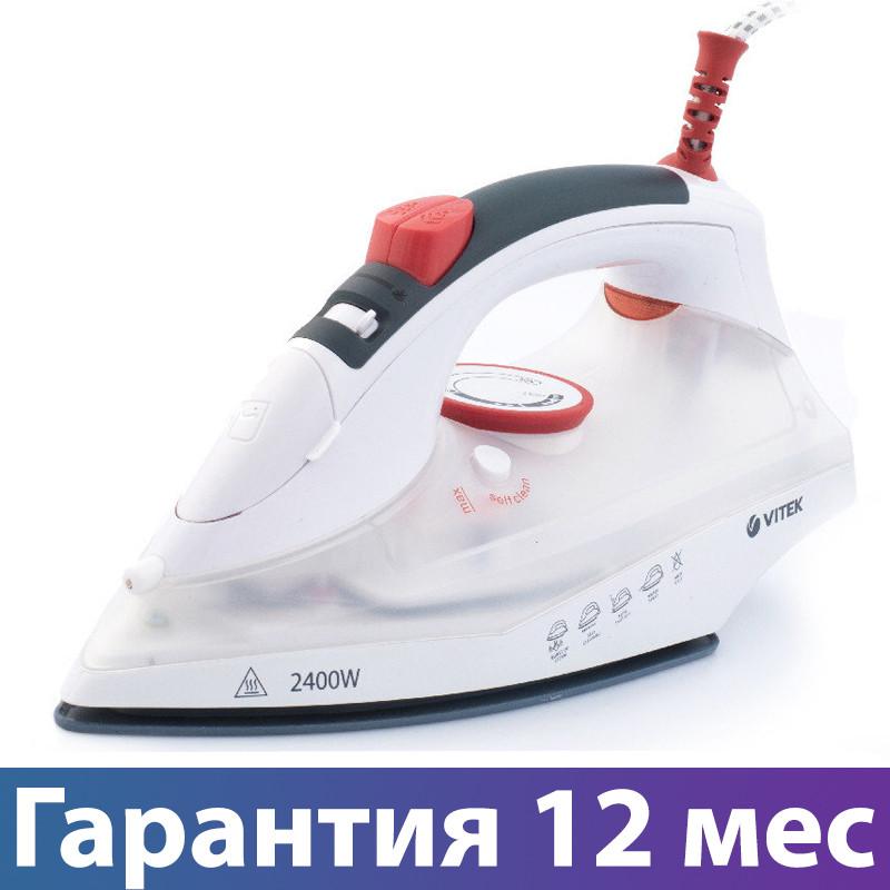 Утюг Vitek VT-1234, 2400 Вт, керамика, авто отключение, антикапля, брызгалка, отпаривание