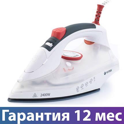 Утюг Vitek VT-1234, 2400 Вт, керамика, авто отключение, антикапля, брызгалка, отпаривание, фото 2
