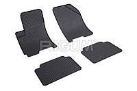 Коврики в салон Chevrolet Aveo 04- Резиновые RIGUM Комплект из 4-х ковриков Черный