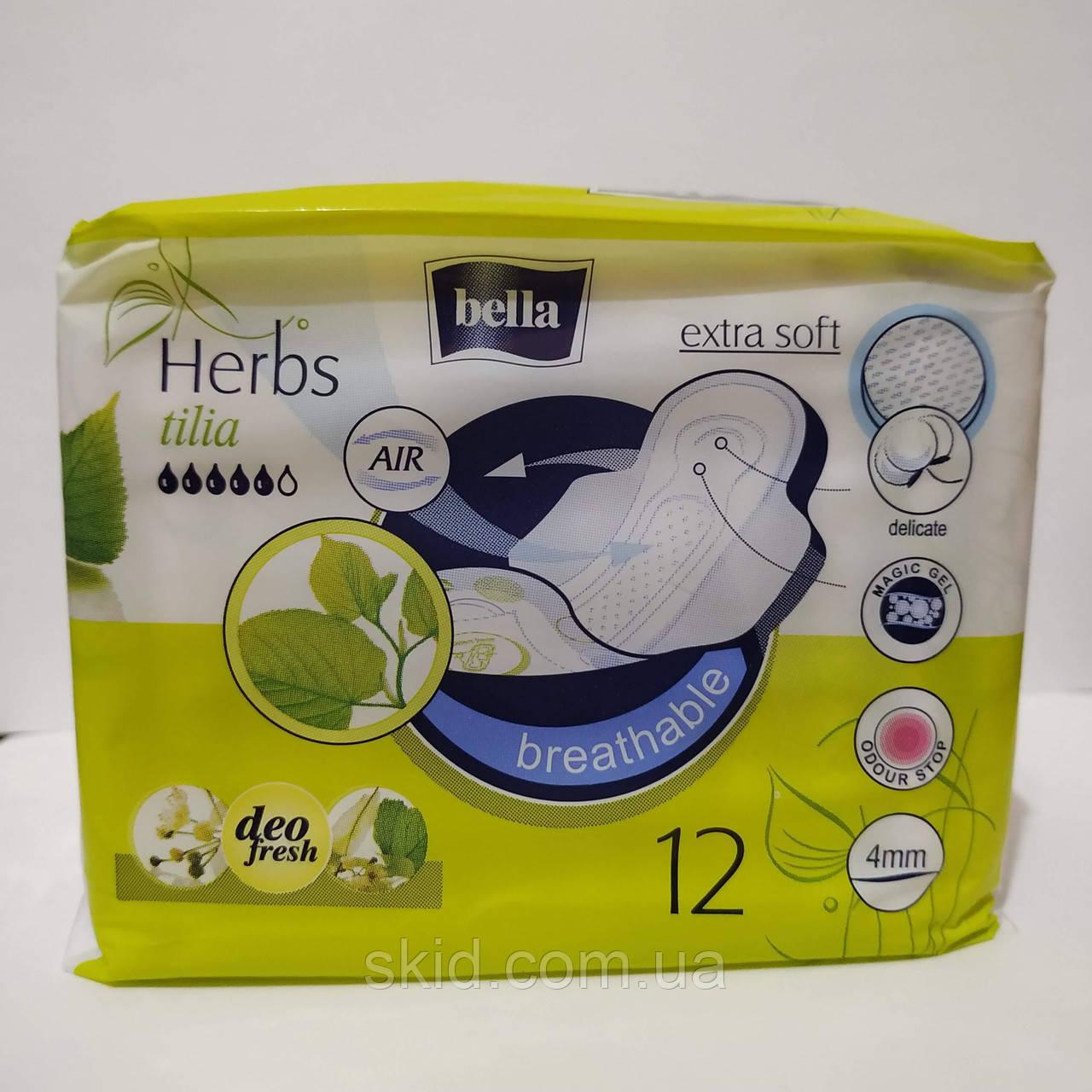 Гигиенические прокладки Bella Herbs Tilia 12 шт
