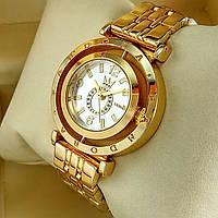 Женские наручные часы Pandora T104 mini золотого цвета с серебряным циферблатом на металлическом браслете