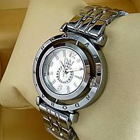 Женские наручные часы Pandora T104 mini серебряного цвета с серебристым циферблатом на металлическом браслете