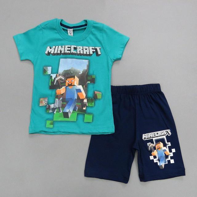 Летний костюм Minecraft для мальчика.