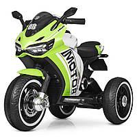 Детский трехколесный мотоцикл на аккумуляторе M 4053L-5 зеленый