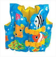 Надувной жилет детский Рыбки Intex 59661 (41х31см.)
