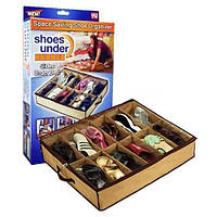 Компактный органайзер для хранения обуви Shoes under server | сумка для обуви