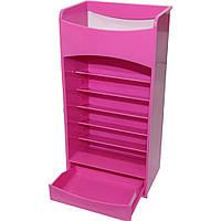 Розовый компактный органайзер - шкафчик для хранения косметики COSMAKE LIPSTICK & NAIL POLISH ORGANIZER