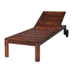 ИКЕА (IKEA) ЭПЛАРО, 902.085.43, Шезлонг, коричневый коричневая морилка