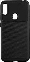 Чехол TOTO Чехол-накладка TOTO TPU Carbon Fiber (1,5mm) Huawei Y6 2019 Black SKU_F_87155
