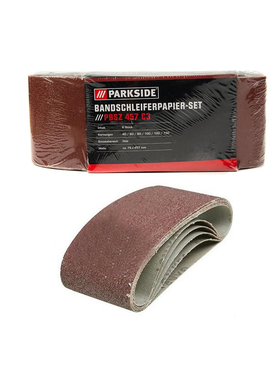 Бумага шлифовочная (6 шт.), PBSZ457 C3 Parkside 7,5х45,7см Коричневый