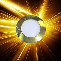Светодиодная панель D85 3W IP20 Золото, фото 1