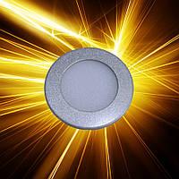Светодиодная панель D85 3W IP20 Серебро, фото 1