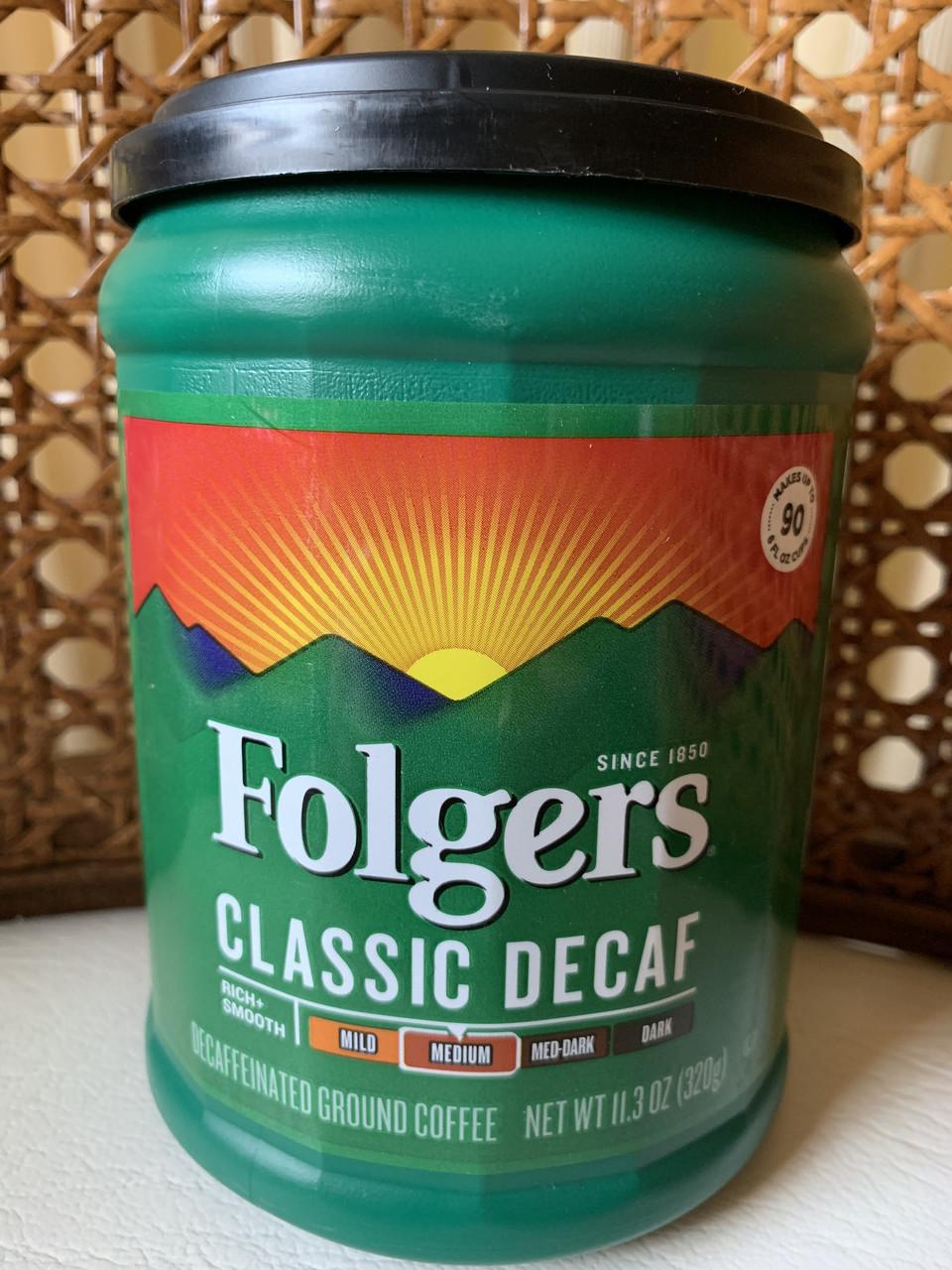 Классический молотый кофе Folgers без кофеина