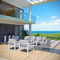 Комплект уличной мебели (диван, 4 кресла, столик) в стиле LOFT (NS-970003841)